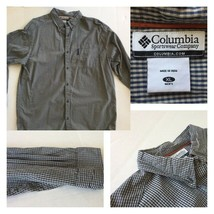Columbia Men's Size XL Long Sleeve L/S Button Front Checkered Casual Shirt - $18.49