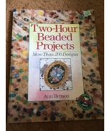 Beading Book, Seed/Bugle Beads, 200 Designs, Ann Benson, Pre-owned, Craf... - $10.00