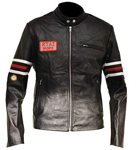 Mens House MD Dr Gregory House Black Biker Leather Jacket