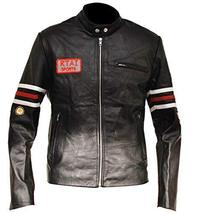 Mens House MD Dr Gregory House Black Biker Leather Jacket image 1