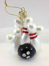 KSA Kurt Adler Christmas Bowling Pins & Ball Glass Ornament 4 inches - $16.42