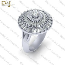 Classic Halo Diamond Cocktail Engagement Ring For Women Anniversary Gift... - $142.59+