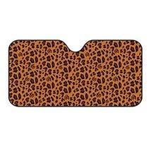 PANDA SUPERSTORE [Fashion Leopard Print] Classic Series Car Sunshade Windshield