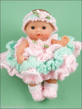 """Itty Bitty Dress Up Fashions, 5"""" baby doll clothes crochet patterns - see pics - $46.39"""