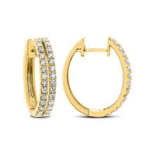 1.00 Ct Round Cut D/VVS1 Diamond Hoop Earring  Set In 14K Yellow Gold Over - $94.71
