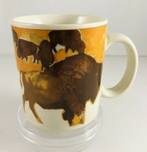 Vintage Otagiri Bison Coffee Mug Cup 11 Oz  Japan  - $19.79