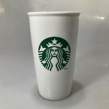 Starbucks Mermaid Split Tail White Ceramic Travel Mug Tumbler 12 oz No Lid - $31.85