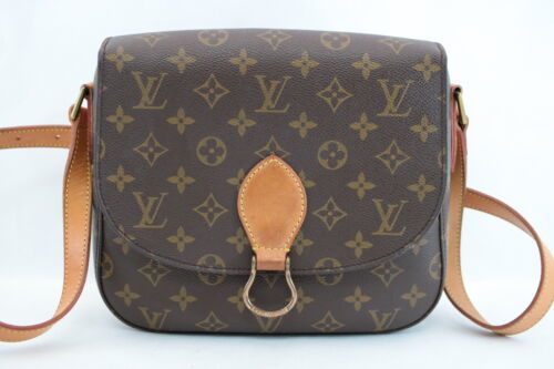LOUIS VUITTON Monogram Saint Cloud GM Shoulder Bag M51242 LV Auth 8101