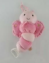Carters Just One Year Musical Crib Pull Toy Baby Girl Pink Butterfly Bug... - $44.54