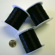 Elastic bead stretchy cord 96' Black .8mm beading thread (3 rolls) 30m m... - $4.95
