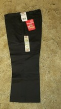"DICKIES Girls Junior BlackUniform Capri Sz 9 Boot Cut Waist 32"" x Ins 21.5"" - $14.80"
