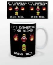 Nintendo Legend of Zelda It's Dangerous Drink This 11 oz Ceramic Mug NEW... - $9.74