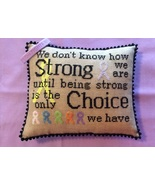 Courageous & Strong (Rick's Sampler) cross stitch chart by Needle Bling ... - $9.00