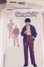 1985 Simplicity Sewing Pattern 7064 Boys' Size 10 Shirt, Pants, Vest Uncut - $4.99