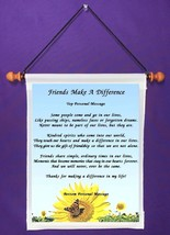 Friends Make A Difference - Personalized Wall Hanging (627-1) - $18.99