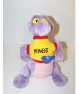 "Disney plush Figment the purple Dragon Epcot Mascot 9"" wearing shirt 198... - $13.36"