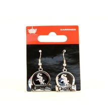 Bar Style Chicago White Sox Dangle Earrings