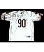 Julius Peppers Chicago Bears Mens 50 Reebok Football Jersey #90 White Se... - $65.44