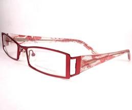 Carmen Marc Valvo Lourdes Red Eyeglasses 51-18-140 Plastic Frames new - $79.19