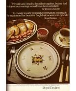 1981 Royal Doulton China Cornwall Winston Churchill Vintage Print Ad 1980s - $4.75