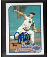 JAY HOWELL AUTOGRAPHED CARD 1989 TOPPS LOS ANGELES DODGERS - $4.48