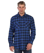 Gioberti Men's Plaid Checkered Flannel (Large|#79 - Checkered Black / Blue) - $28.91