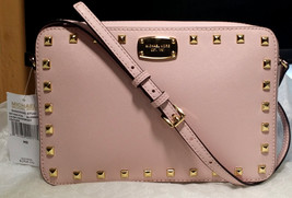 MICHAEL KORS SANDRINE SAFFIANO Stud East West Leather LG Crossbody Bag P... - $108.89