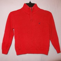 Turtleneck Sweater Pullover Red Size 3T Nautica Cotton - $9.89