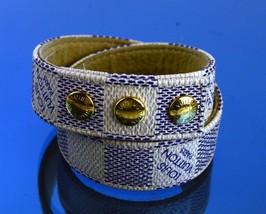 Authentic Louis Vuitton Damier Azur C'est Lux by CELUX Bracelet Accessories Used - $197.01