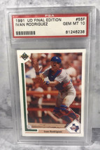 1991 Upper Deck Final Edition Ivan Rodriguez ROOKIE RC #55F PSA 10 GEM MINT - $28.66