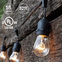 Amico 52ft Outdoor String Lights Commercial Grade Weatherproof Yard Ligh... - €33,59 EUR