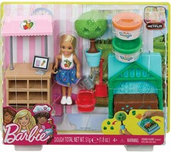 Barbie Garden Playset with Chelsea Doll Food Molds 2 Dough Colors Ages 4... - $26.99