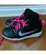 Nike Black & Pink Size 4Y Basketball Shoes - 599187-004 - $13.99