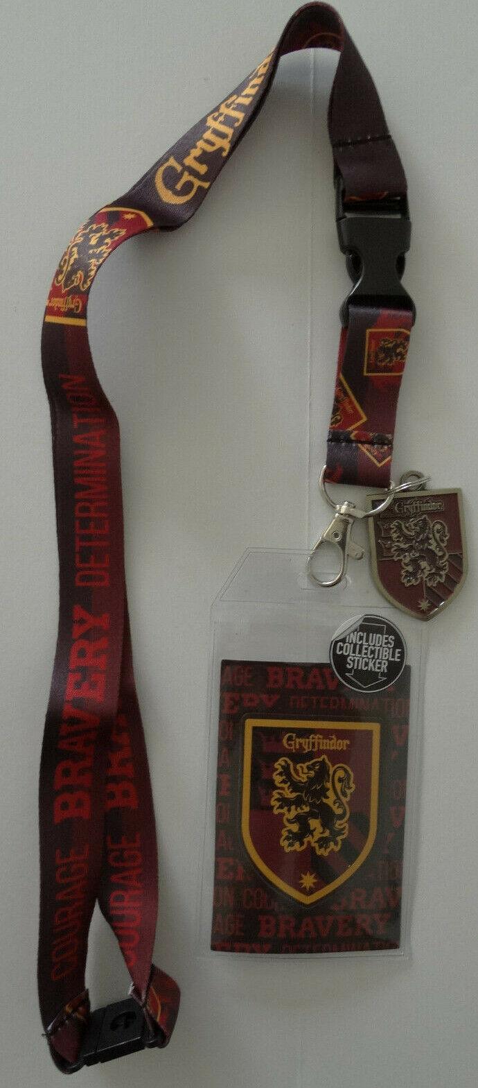 Harry Potter Gryffindor ID Badge Holder Keychain Lanyard