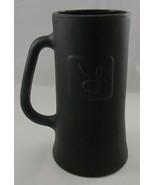 """Vintage Playboy Black Smoke Glass Beer Mug Bunny Logo, 6 1/2"""" Tall - $12.86"""