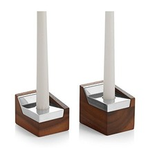 Nambè Geo Wood and Alloy Sabbath Candlestick Pair - $114.82