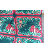 Fabric Panel Cut And Sew Christmas Placemats Xmas Candles Ribbons Holly ... - $12.00