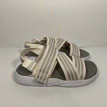 adidas Womens 90's Logo Slip on Strap Sandals US 8 White Comfort Cloud W... - $34.64