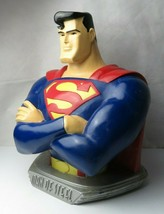 "Rare Superman - Man of Steel Large and Heavy Colorful Bust DC Comics 1997 18"" - $220.00"