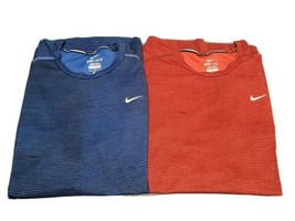 Two Nike Dri-Fit Miler Athletic Shirts Woman's Large - $28.05