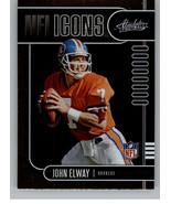 2019 Absolute NFL Icons #8 John Elway Broncos - $2.95