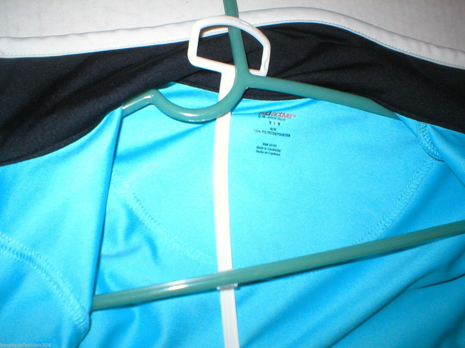 Womens St Johns Bay Track Jacket Nike Pants Blue Black White Set Medium M Casual