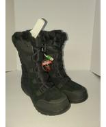 COLUMBIA SNOW BOOTS black Waterproof Warm YL 1008-010 Sz 9.5 - $59.40