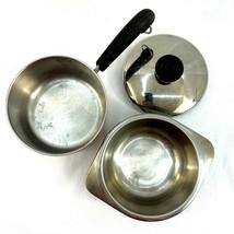 Vintage Revere Ware Stainless Steel Copper Clad 1Quart Saucepan Pot & Li... - $15.83