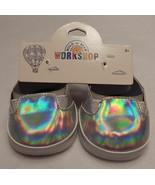 NEW Build A Bear Shoes Shiny Silver Canvas NWT - $24.99