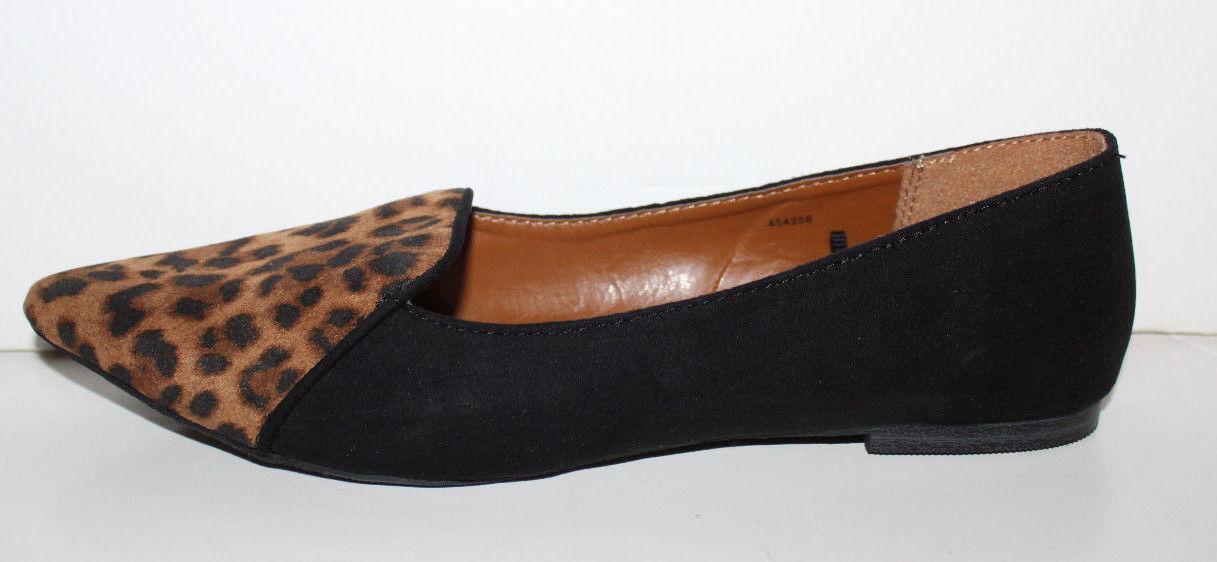 8cba3c682 Gap NWT Womens Faux Suede Leopard Print Smoking Flats w  Pointy Toe