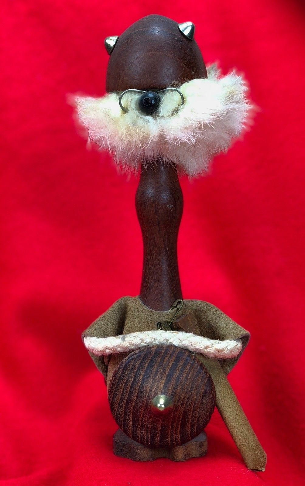 Teak Wood Viking Figurine Danish Mid And 50 Similar Items