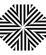 Folding Umbrella beetlejuice black and white stripes gothic funny hallow... - $45.00