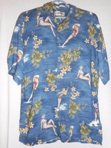Hawaiian Shirt Sz M Campia Moda Destination Wedding bathing beauties Blu... - $27.71