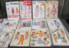 Lot of 17 Girl's Baby Clothing Patterns - $20.00